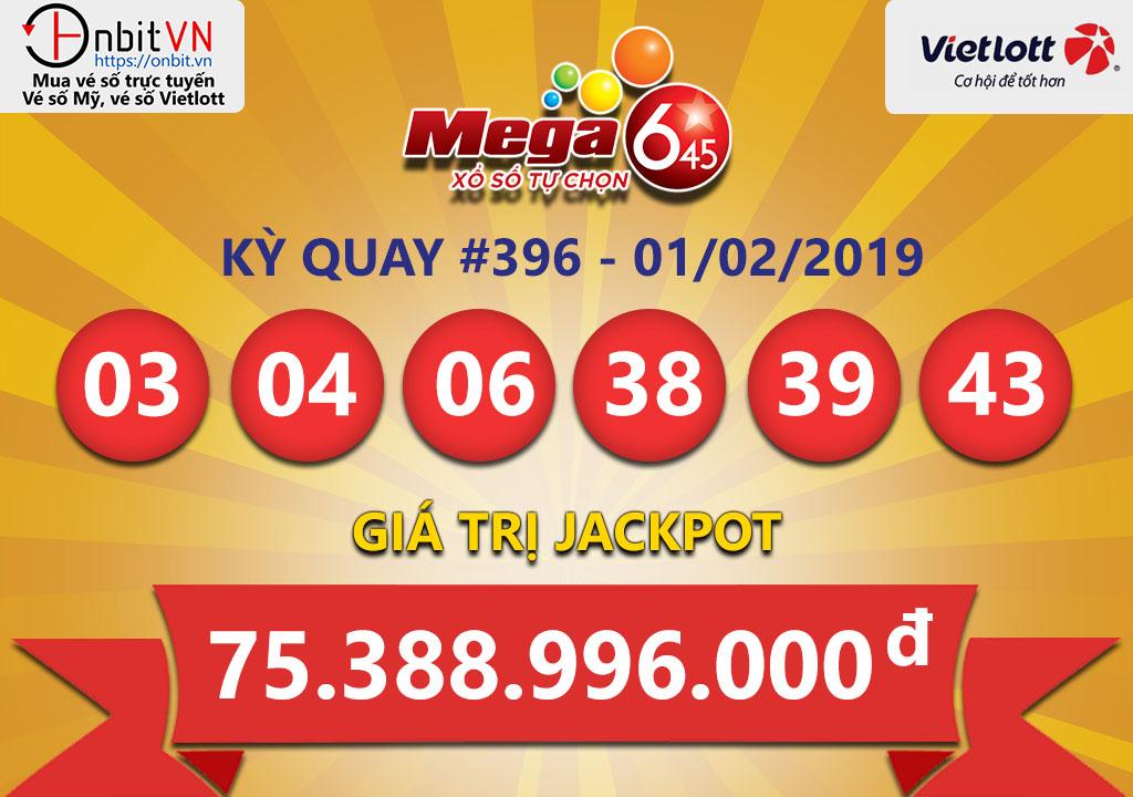 Cập nhật kết quả xổ số Vietlott Mega6/45 ngày 01/02/2019