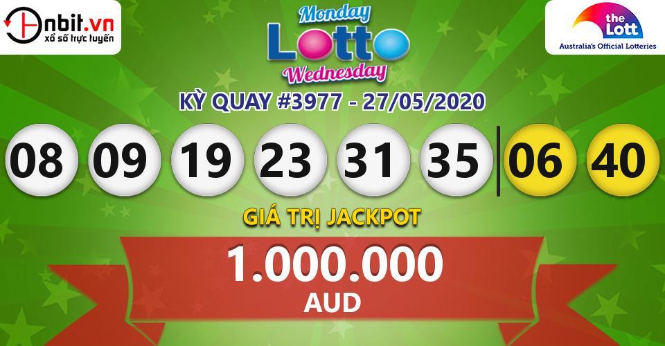 Cập nhật kết quả xổ số Úc Monday & Wednesday Lotto hôm nay ngày 27/05/2020