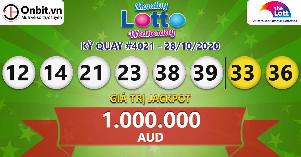 Cập nhật kết quả xổ số Úc Mon & Wed Lotto hôm nay ngày 28/10/2020