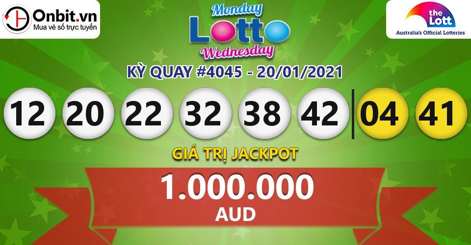 Cập nhật kết quả xổ số Úc Mon & Wed Lotto hôm nay ngày 20/01/2021