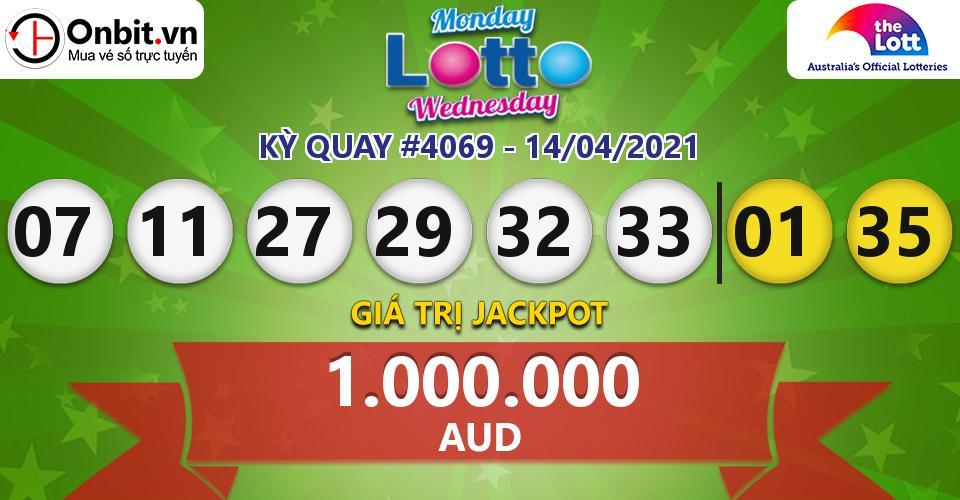 Cập nhật kết quả xổ số Úc Mon & Wed Lotto hôm nay ngày 14/04/2021