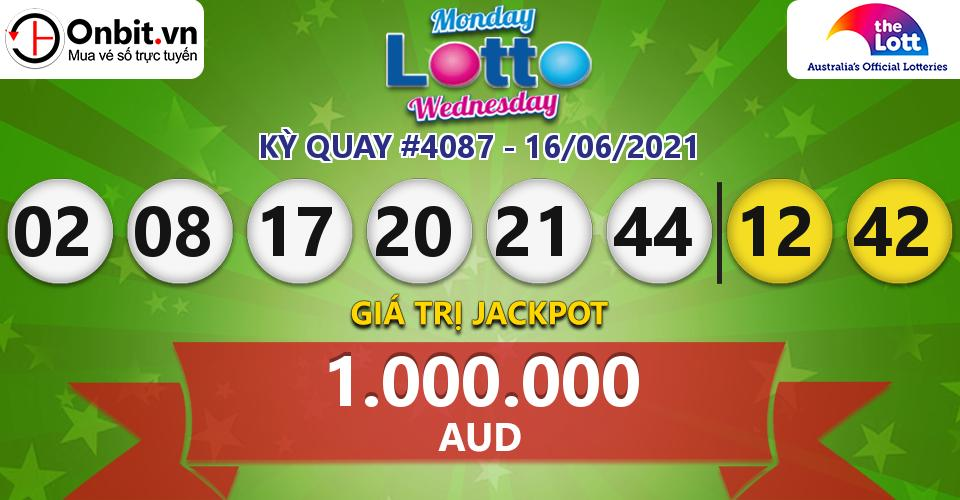 Cập nhật kết quả xổ số Úc Mon & Wed Lotto hôm nay ngày 16/06/2021