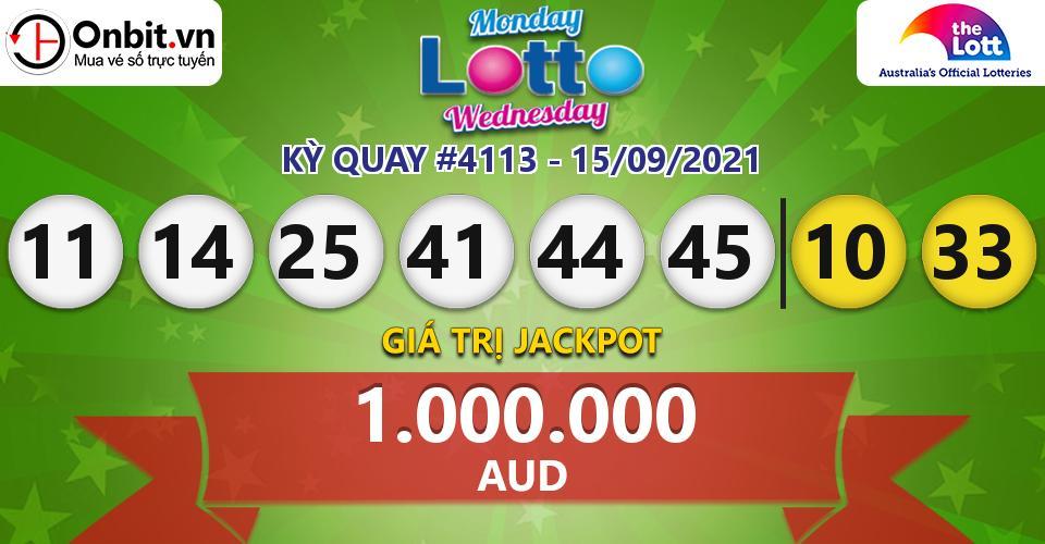 Cập nhật kết quả xổ số Úc Mon & Wed Lotto hôm nay ngày 15/09/2021