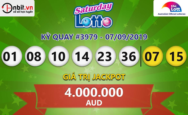 Cập nhật kết quả xổ số Saturday Lotto ngày 07/09/2019