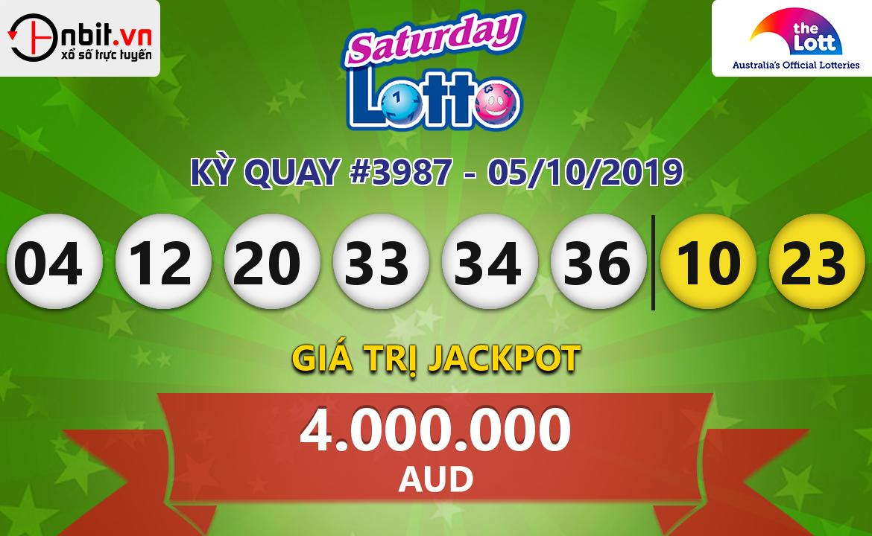 Cập nhật kết quả xổ số Saturday Lotto ngày 05/10/2019