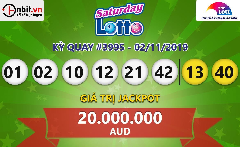 Cập nhật kết quả xổ số Saturday Lotto ngày 02/11/2019