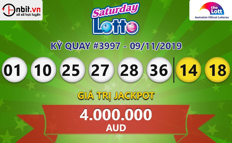 Cập nhật kết quả xổ số Saturday Lotto ngày 09/11/2019