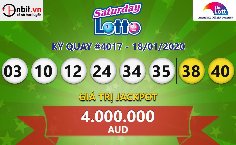 Cập nhật kết quả xổ số Saturday Lotto ngày 18/01/2020