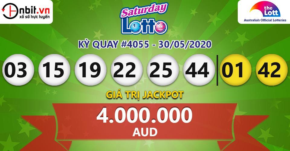 Cập nhật kết quả xổ số Úc Saturday Lotto hôm nay ngày 30/05/2020