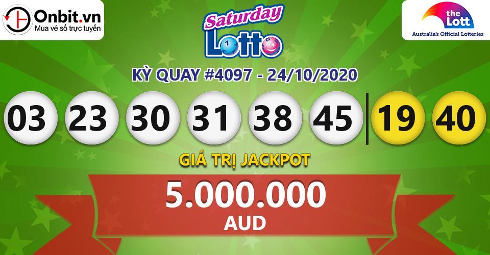 Cập nhật kết quả xổ số Úc Saturday Lotto hôm nay ngày 24/10/2020