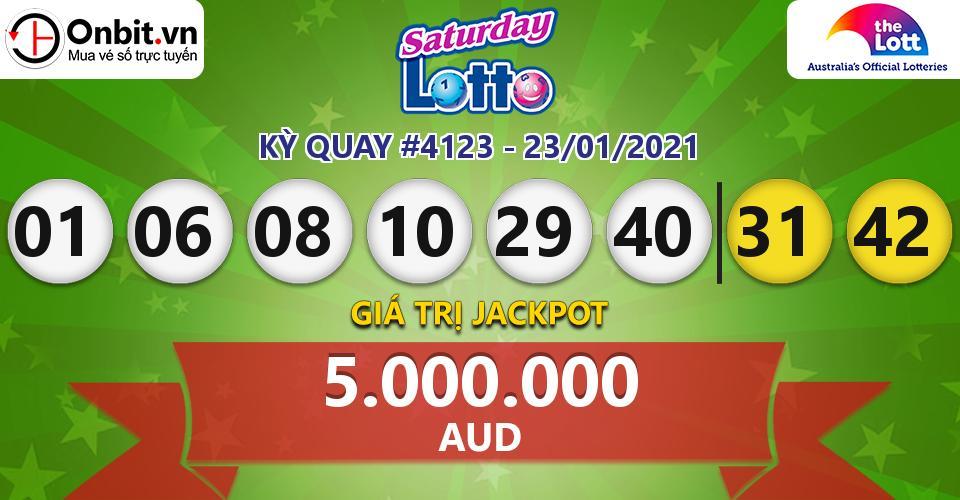 Cập nhật kết quả xổ số Úc Saturday Lotto hôm nay ngày 23/01/2021