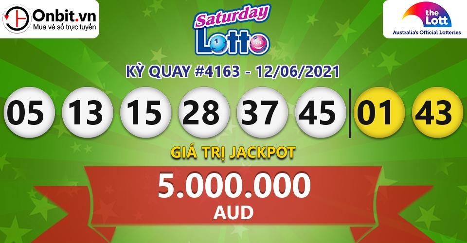 Cập nhật kết quả xổ số Úc Saturday Lotto hôm nay ngày 12/06/2021