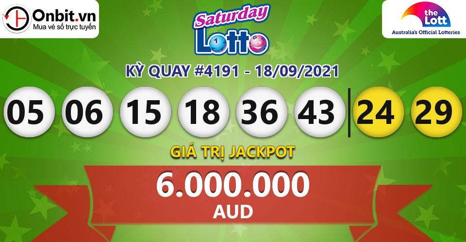 Cập nhật kết quả xổ số Úc Saturday Lotto hôm nay ngày 18/09/2021