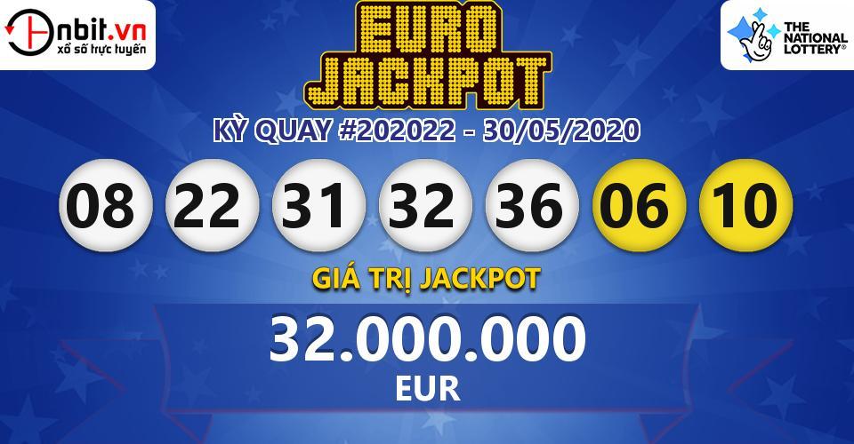 Cập nhật kết quả xổ số Châu Âu EuroJackpot hôm nay ngày 30/05/2020