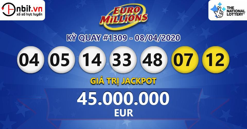 Cập nhật kết quả xổ số Euro Millions hôm nay ngày 08/04/2020