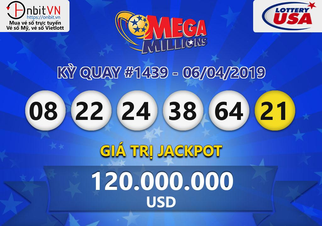 Cập nhật kết quả xổ số Mỹ MegaMillions ngày 06/04/2019