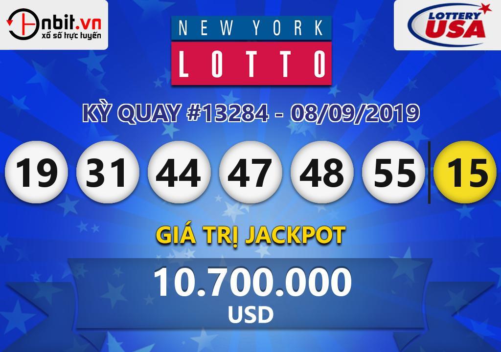 Cập nhật kết quả xổ số New York Lotto ngày 08/09/2019