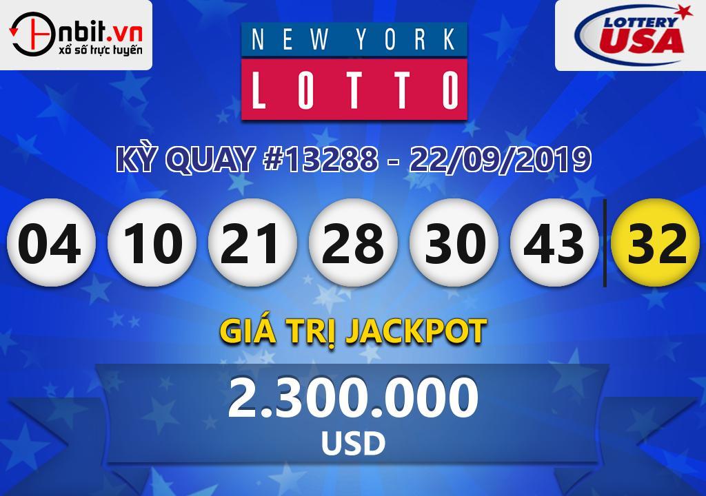 Cập nhật kết quả xổ số New York Lotto ngày 22/09/2019
