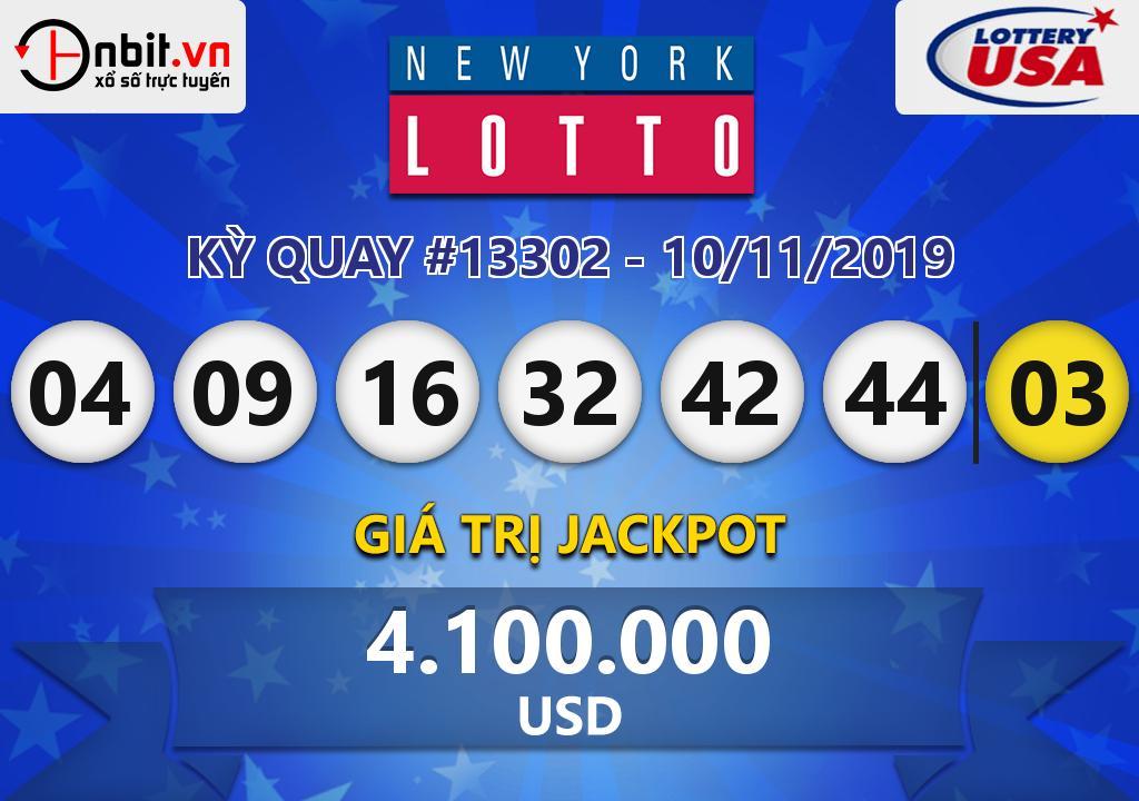 Cập nhật kết quả xổ số New York Lotto ngày 10/11/2019