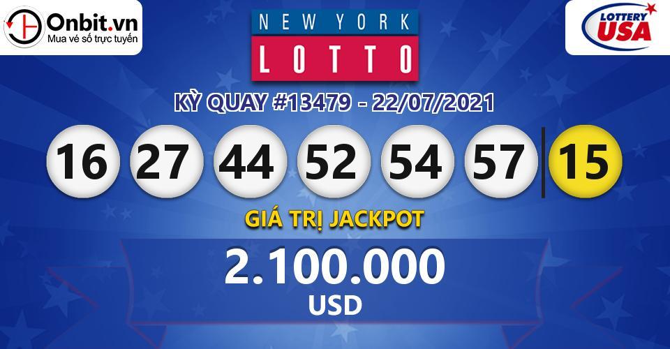 Cập nhật kết quả xổ số Mỹ New York Lotto hôm nay ngày 22/07/2021
