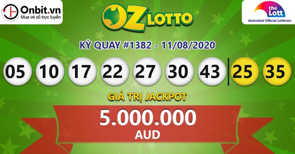 Cập nhật kết quả xổ số Úc Oz Lotto hôm nay ngày 11/08/2020