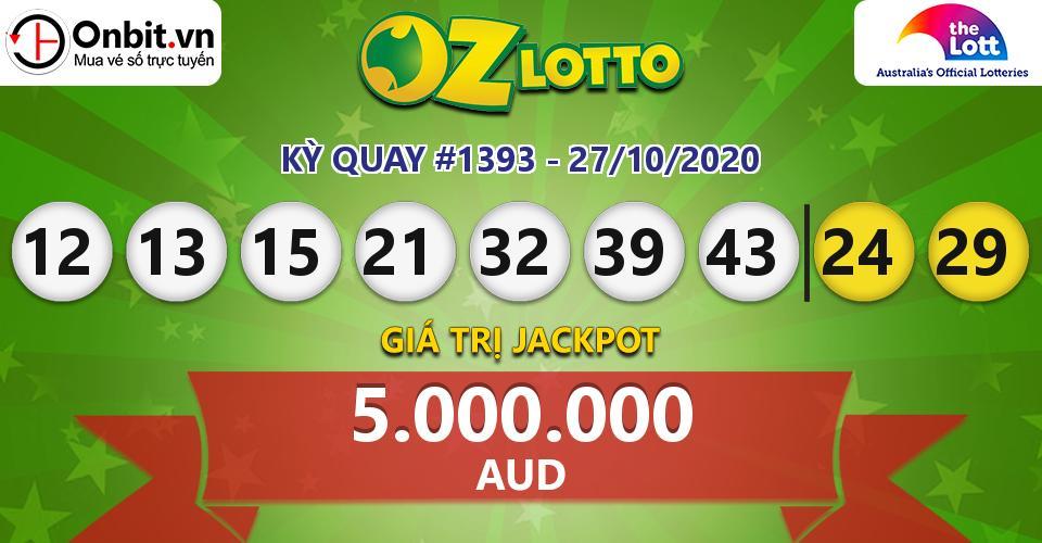 Cập nhật kết quả xổ số Úc Oz Lotto hôm nay ngày 27/10/2020