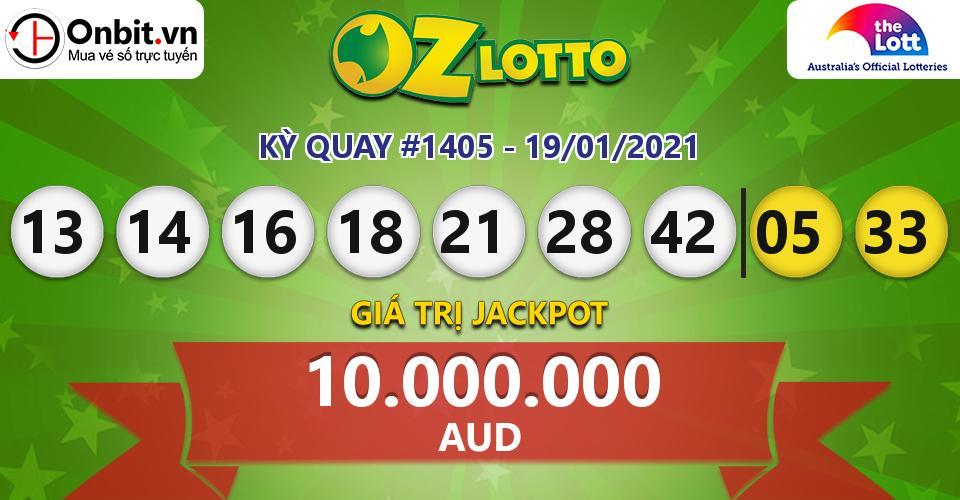 Cập nhật kết quả xổ số Úc Oz Lotto hôm nay ngày 19/01/2021