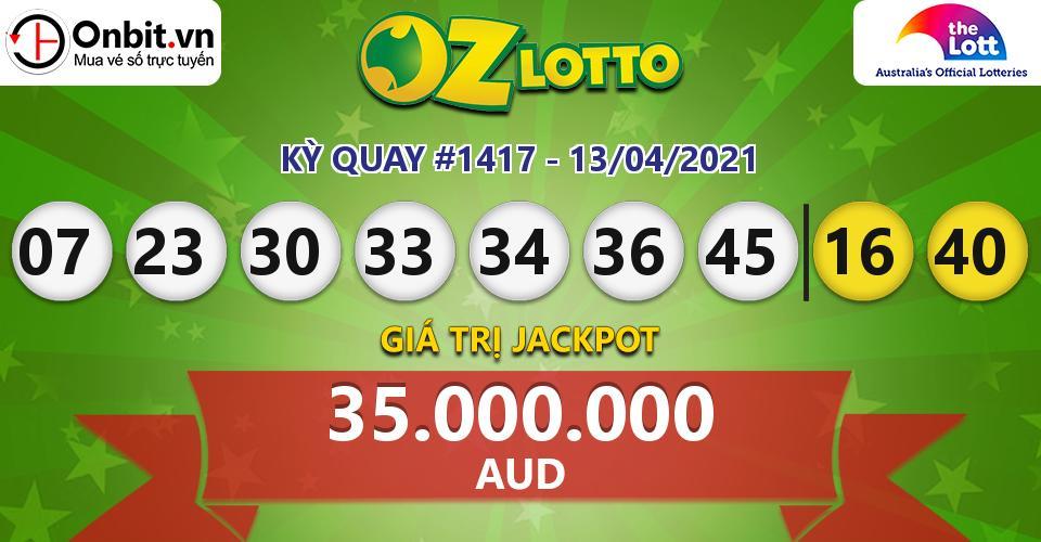Cập nhật kết quả xổ số Úc Oz Lotto hôm nay ngày 13/04/2021