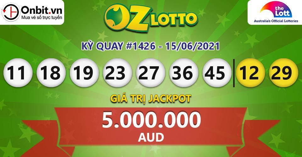 Cập nhật kết quả xổ số Úc Oz Lotto hôm nay ngày 15/06/2021