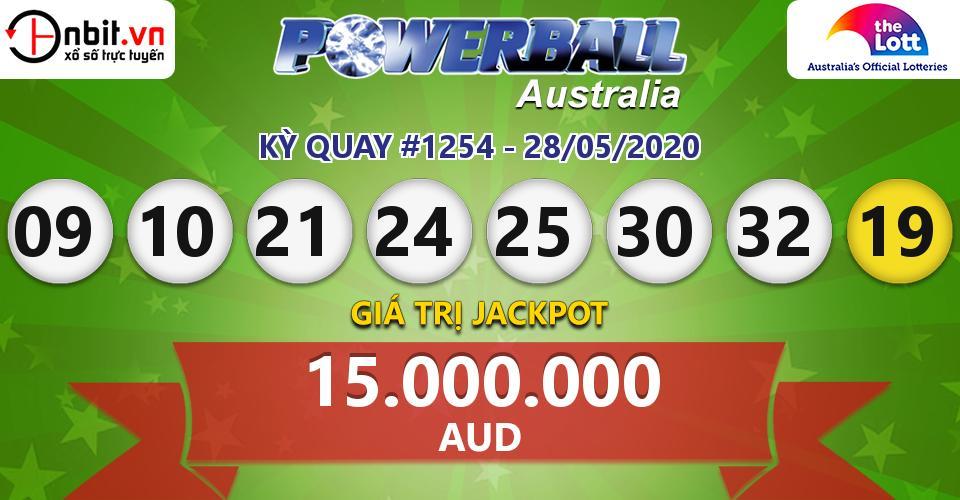 Cập nhật kết quả xổ số Australia PowerBall hôm nay ngày 28/05/2020