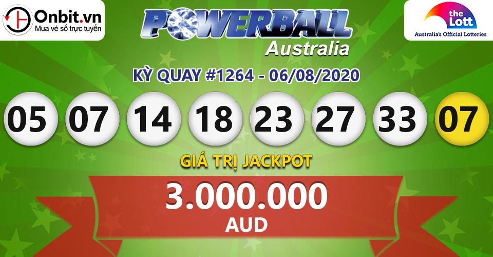 Cập nhật kết quả xổ số Úc Australia PowerBall hôm nay ngày 06/08/2020