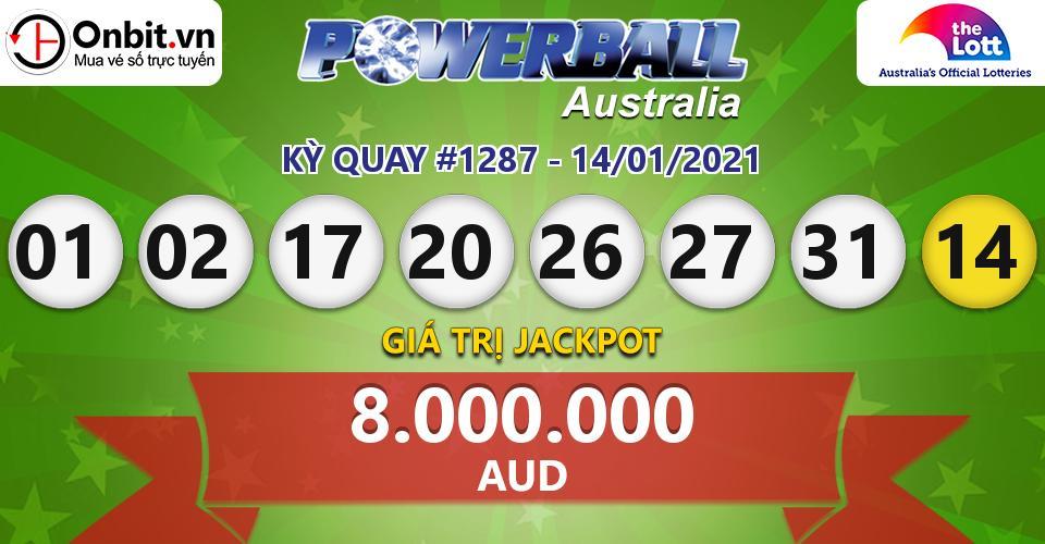 Cập nhật kết quả xổ số Úc Australia PowerBall hôm nay ngày 14/01/2021