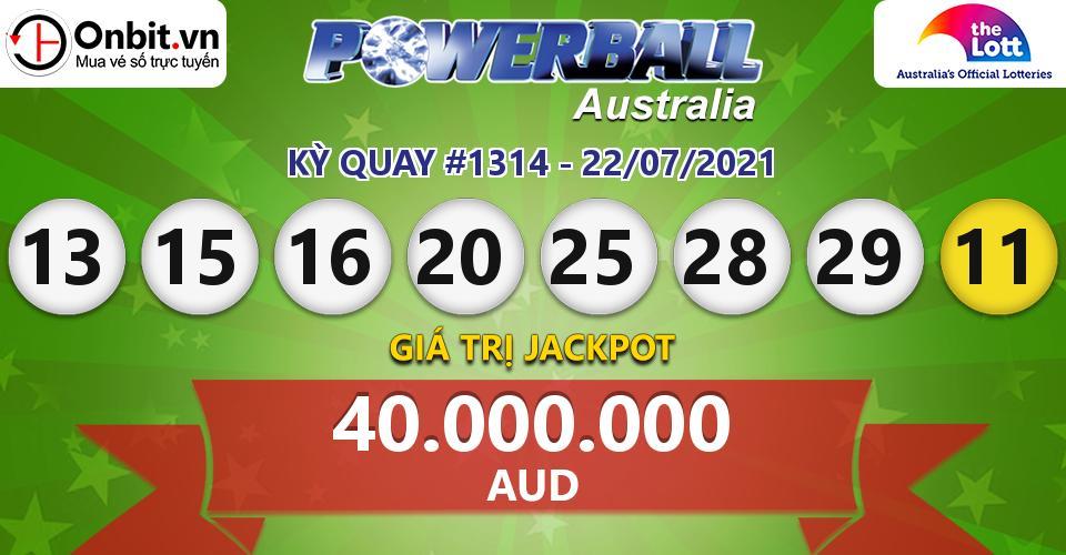 Cập nhật kết quả xổ số Úc Australia PowerBall hôm nay ngày 22/07/2021