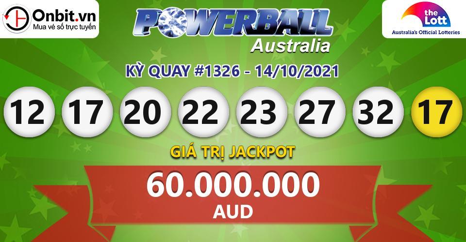 Cập nhật kết quả xổ số Úc Australia PowerBall hôm nay ngày 14/10/2021