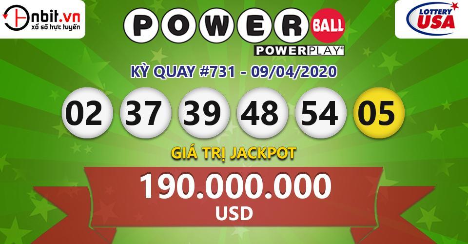 Cập nhật kết quả xổ số Mỹ Powerball hôm nay ngày 09/04/2020