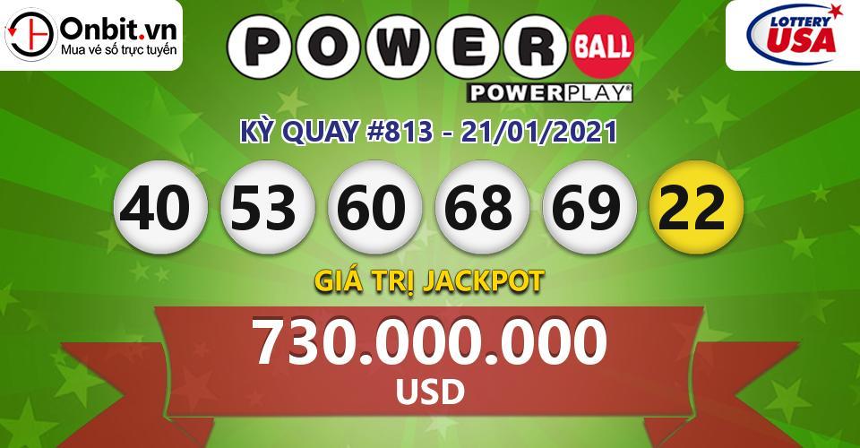 Cập nhật kết quả xổ số Mỹ U.S PowerBall hôm nay ngày 21/01/2021